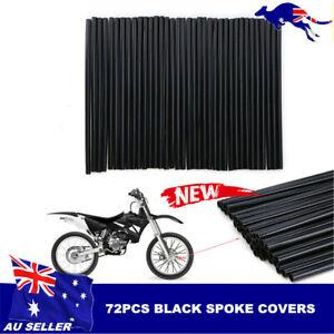 Black-Spoke-Wraps-Skin-Cover-Kit-72Pcs-Dirt-Bike-110cc-125cc-140cc-150cc-160cc