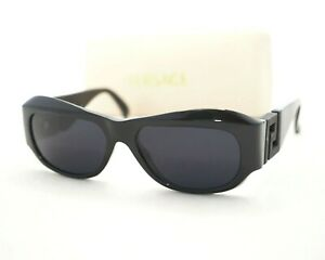 hot product complimentary shipping various styles Details about Gianni Versace authentic T75 sunglasses vintage black baroque  unisex 420