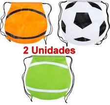 Bolsa Mochila Plegable con Cuerdas 42x43 cm,futbol,baloncesto,tenis,niños,adulto