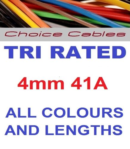 4mm Tri Rated Cable 4.0mm Automotive Cable 12//24v Auto Charging 240v Cable