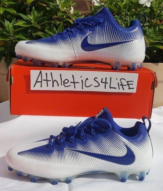 NIKE VAPOR UNTOUCHABLE PRO FOOTBALL CLEATS SIZE 13 WHITE ROYAL BLUE 922898-141
