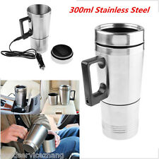Stainless Steel 12V Car Auto Adapter Travel Mug Thermos Heating Cup Kettle 1pcs