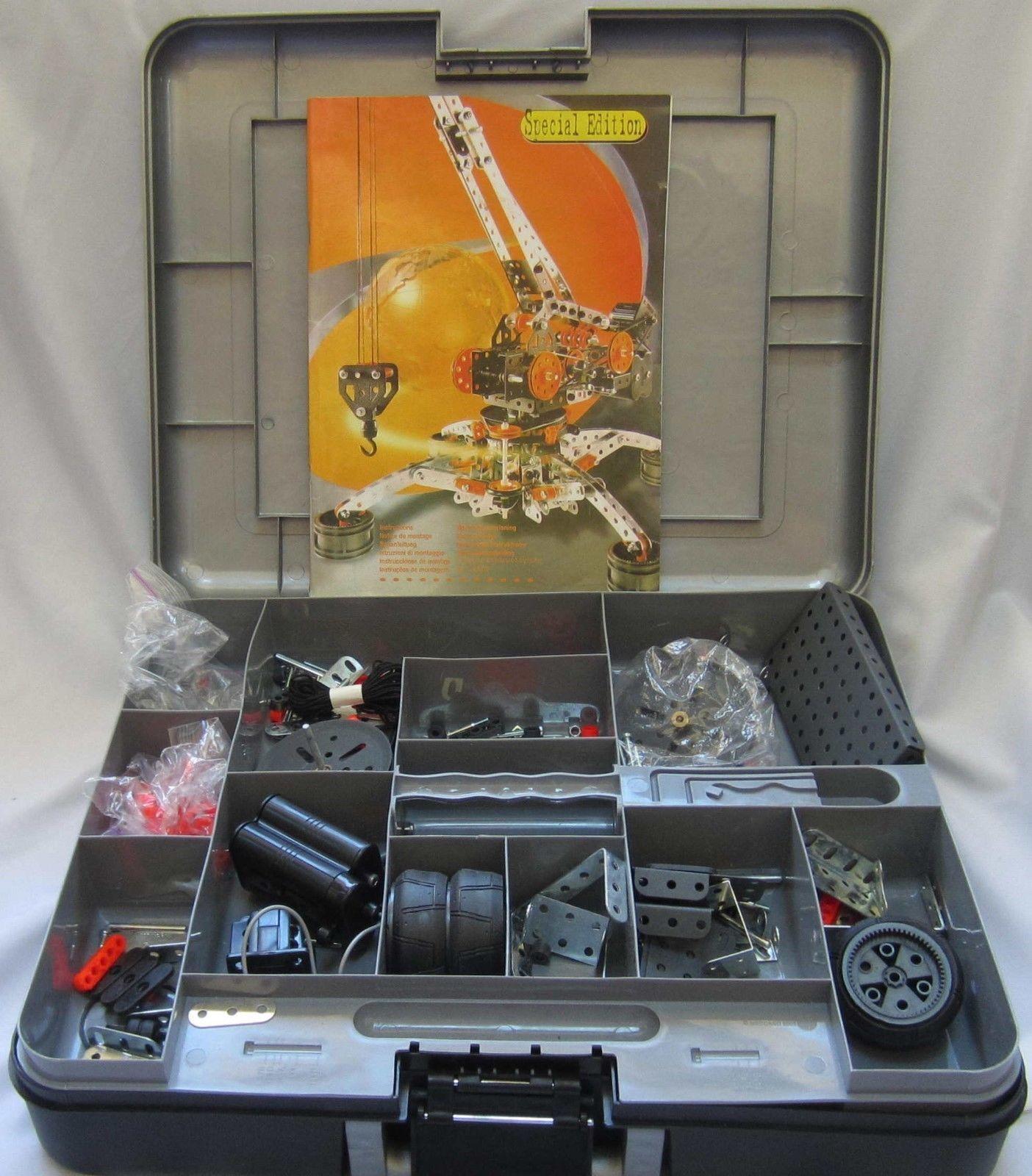 Erector Set Special Edition Crane Set In Storage Case. Everything still in bags