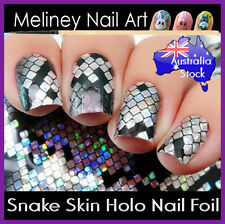 Holographic Snake Skin Nail Art Foil Sticker Transfer Nail Tips Decoration