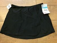 Spanx ASSETS 1561 WRAP SKIRTINI SWIMSUIT BOTTOM SKIRT BLACK sz S SMALL NWT (#15)