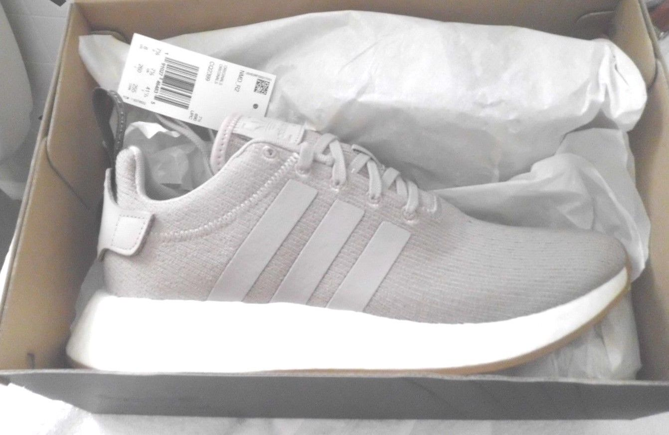 best sneakers a71b0 e7a08 ... NWB Adidas Originals Men s NMD r2 Sneaker Grey Grey Taupe Size 12 or or  or ...