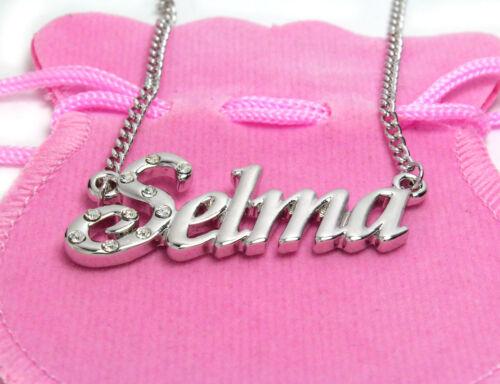 18K Gold PlatedDesigner Curb Chain Bridesmaid Pendant Name Necklace Selma