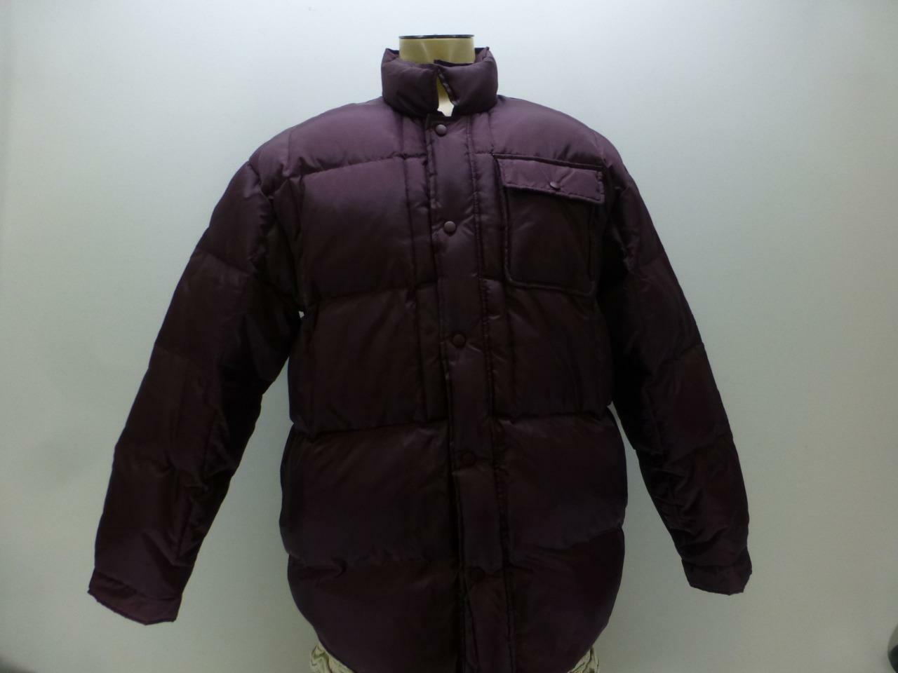 Moose Creek Down plum quilted button snap Puffer winter Coat mens sz 2XL XXL XL