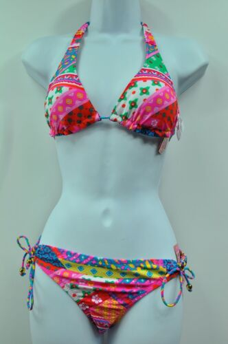 Candie/'s Multi Color Patchwork Print  Bikini Top or Bottom Swimwear MSRP $32
