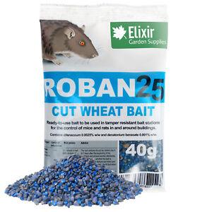 Roban25 Cut Wheat Mouse & Rat Poison, 40g Sachets