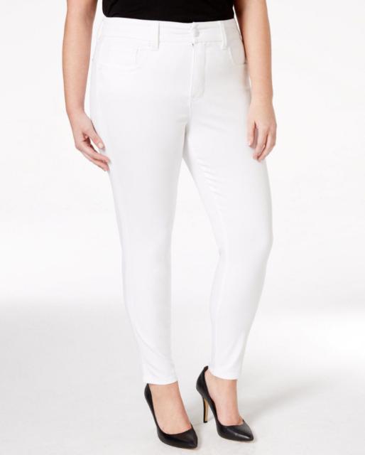 a186ec669cd Seven 7 Womens Jeans Melissa McCarthy Plus Pencil High Rise White Wash  89  24W