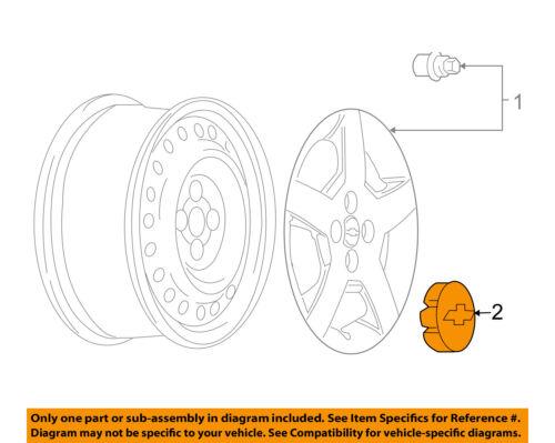 Chevrolet GM OEM 05-10 Cobalt Wheel-Center Cap Hub Cover 22863942