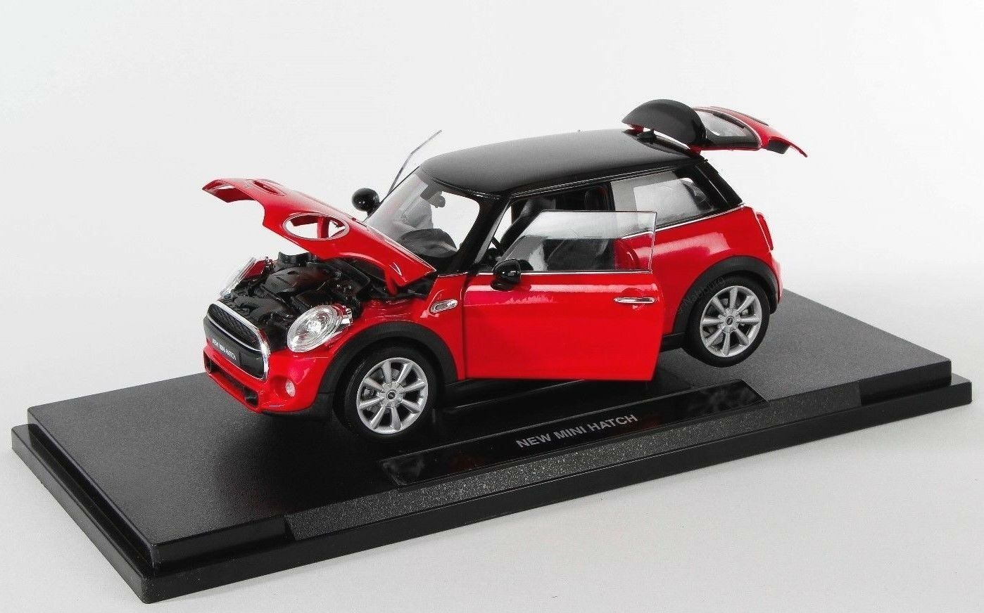 Blitzversand New Mini Hatch Red Red Welly Model Car 1 18 NEW & OVP