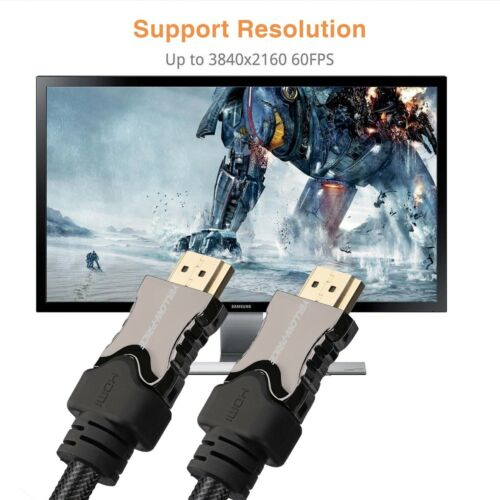 HDCP 2.2 6FT - 2pcs v2.1 HDMI 2.1 Cable 8K 120Hz HDR 48Gbps Ethernet /& eARC