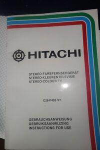 Hitachi Gebrauchsanweisung mit Schaltplan - Saarland, Deutschland - Hitachi Gebrauchsanweisung mit Schaltplan - Saarland, Deutschland