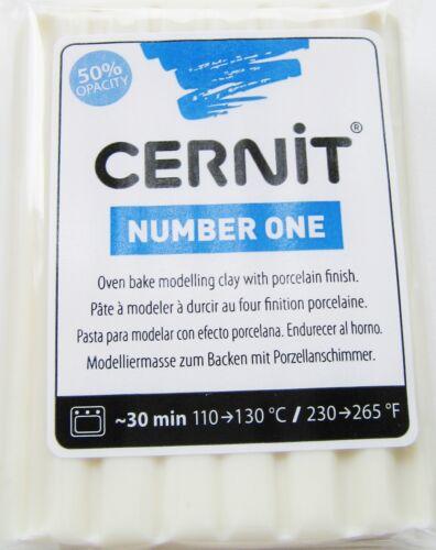 Cernit 250 G Modelages polymère clay Numéro Noir//Blanc