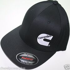 Cummins hat ball cap fitted flex fit  flexfit stretch cummings ram black lg/xl