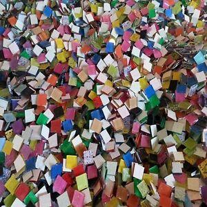 """Mega Mix 500 Pieces Blueriverglass Mosaic TILE Hand-Cut Glass Tiles 1/2"""" SALE"""