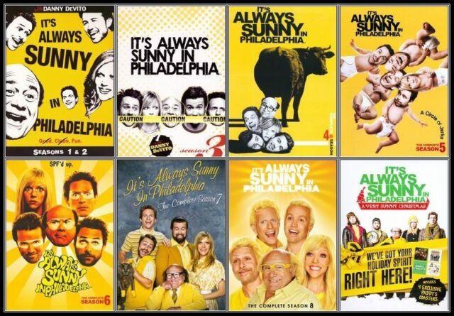 ITS ALWAYS SUNNY IN PHILADELPHIA COMPLETE SEASONS 1 2 3 4 5 6 7 8 & XMAS DVD SET