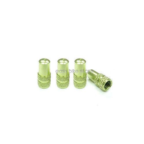 4PCS BIKE MTB ROAD Aluminum Presta Inner Tube Valve Cap Anodized Machined GREEN
