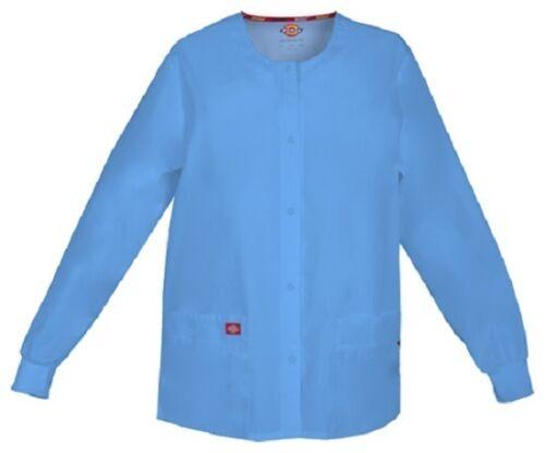 Scrubs Dickies Snap Front Warm-Up Jacket 86306 CIWZ Ciel Blue Free Shipping