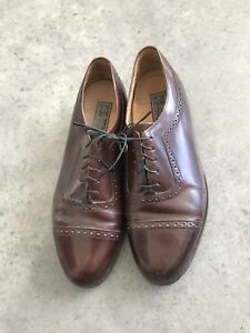 Bostonian Crown Windsor Brown Mens Leather Dress Oxford Shoes B SZ 10 D / B