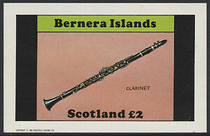 1348 Bernera 1982 Musical Instruments Imperf £2 Deluxe Sheet U/m Kind-Hearted Gb Locals