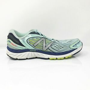 New Balance Womens 860 V7 W860WB7 Blue Mint Running Shoes Lace Up ...
