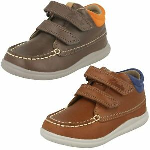ea11d3e0ef4ec7 Image is loading Clarks-Boys-Leather-Ankle-Boots-039-Cloud-Tuktu-