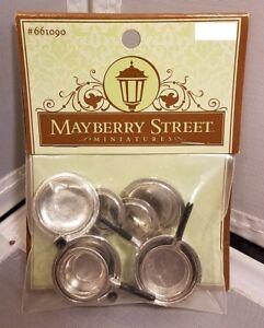 Mayberry Street Miniatures Pots Pans Dollhouse Shadowbox Kitchen