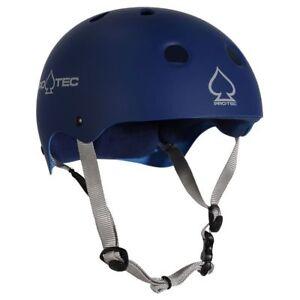 Protec Classic Skate Helmet Matte Blue Size Large Skate Scooter Pro-Tec