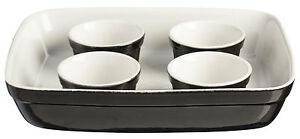 Mason-Cash-5-Piece-Baking-Set-Roaster-Dish-4-Ramekins-Black-Oven-Dishes-Bakeware