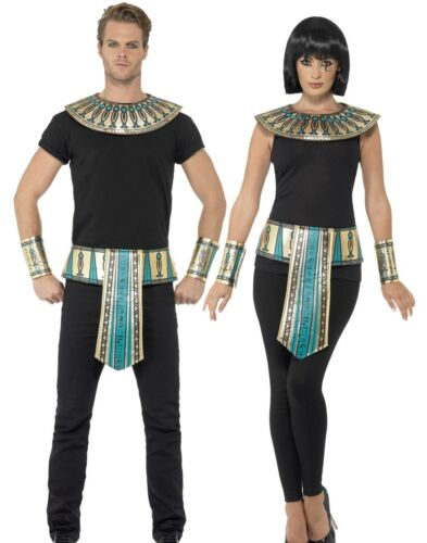 Adults Egyptian Pharaoh Kit Mens Ladies Egypt Fancy Dress Costume Outfit New