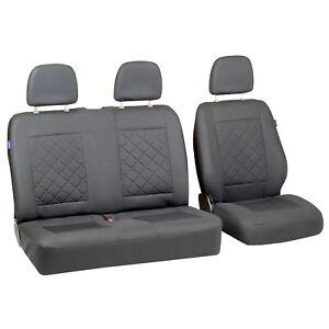 GRIS-Fundas-de-Asientos-Para-Volkswagen-VW-T5-Cubierta-coche-Set-1-2