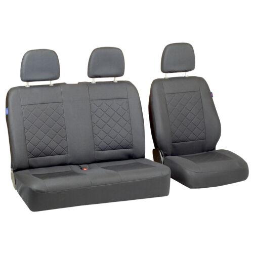 Graue Sitzbezüge für MERCEDES T1 Autositzbezug grau SET 1+2