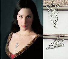 Delicate LOTR Lord Of The Rings Hobbit Arwen EVENSTAR Necklace Pendant Chain