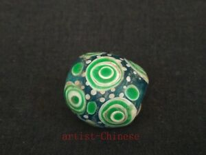 Rare-Collection-Old-China-Pretty-Glaze-eye-Bead-Pendant-Necklace-Decoration-Gift