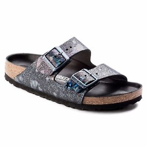 414a28a1f63c Image is loading CLEARANCE-Birkenstock -Leather-ARIZONA-LUX-Spotted-Metallic-Black-