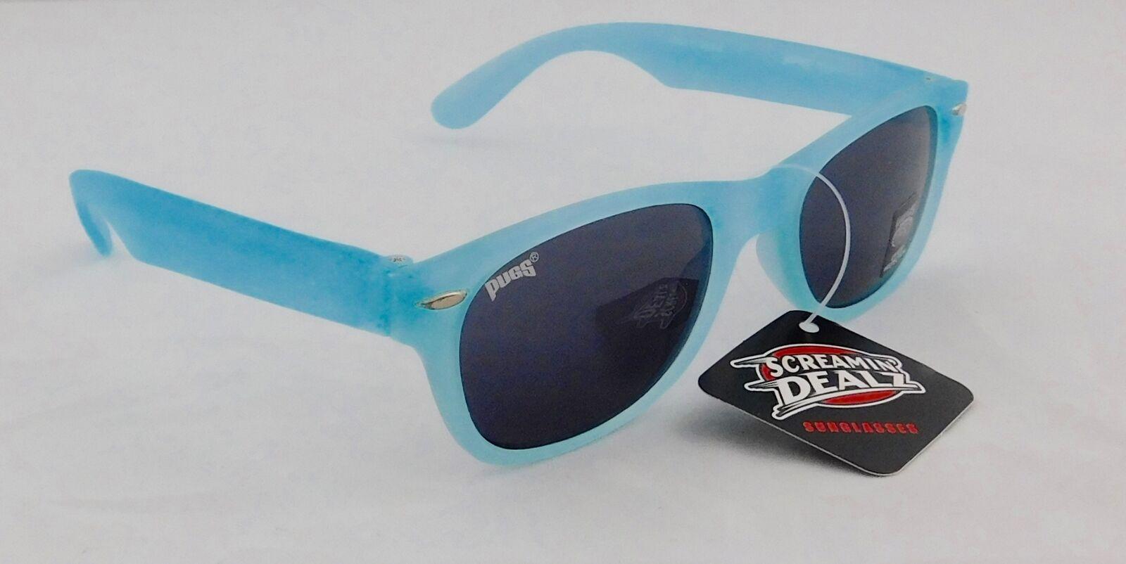Pugs Children Orange Color Changing Wayfarer Frame Sunglasses UV400 Style #4114