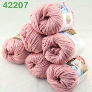 AIPYARN-Sale-6Ballsx50g-Soft-Cotton-Chunky-Super-Bulky-Hand-Knit-Crochet-Yarn-07