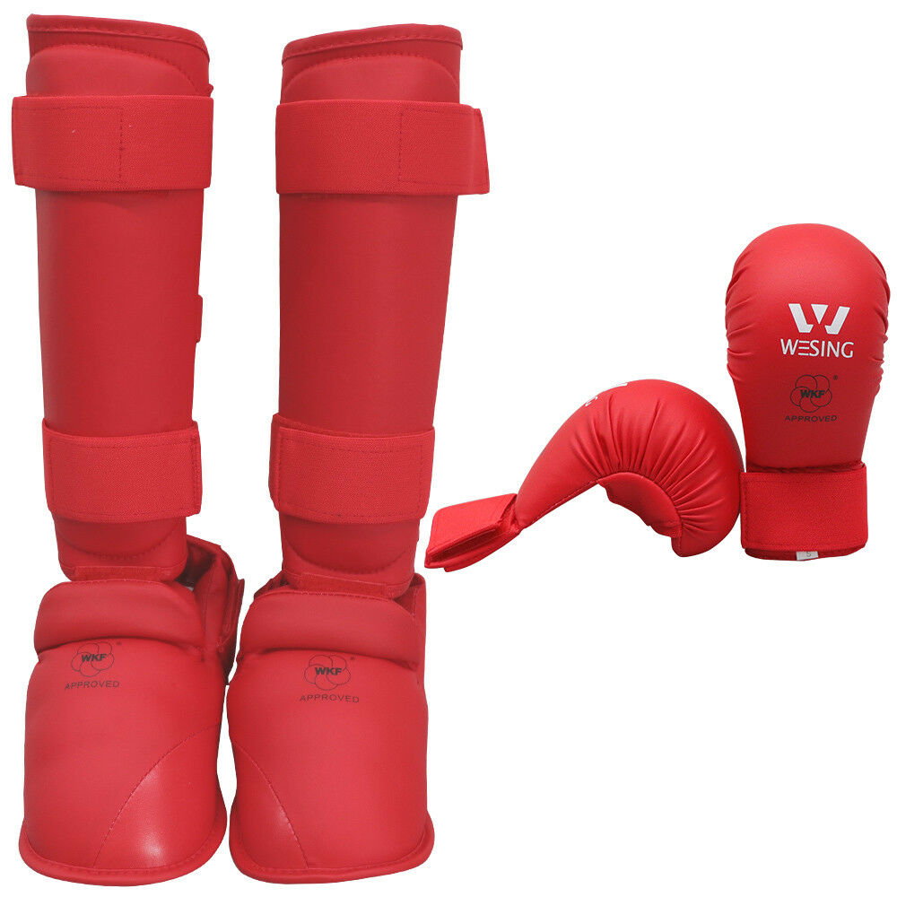 Wesing Karate g s And shin Step  guards sets karate equipment WKF approved  unique shape
