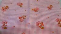 Strawberry Shortcake Fabric With Printed Gingham Background Pinks - 25 X 45