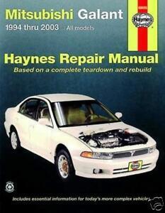 haynes repair workshop manual mitsubishi galant 94 03 ebay rh ebay com Mitsubishi Galant Manual PDF Mitsubishi Galant Manual Transmission Interior
