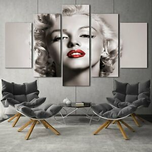 Marilyn-Monroe-5PCS-HD-Canvas-Print-Home-Decor-room-Picture-Wall-Art-Painting