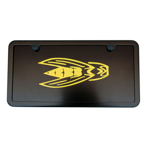 Dodge Challenger Srt Srt8 Yellow Jacket Black License Plate Vanity