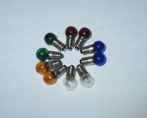 Lampes-de-Rechange-de-Couleur-E5-5-19V-Couleur-au-Choix-10-Pieces-Nouveau