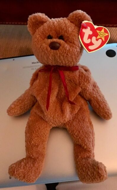 4e242f5f0d9 Ty Beanie Baby Curly The Bear 1996 Many Errors - Retired MWMT for ...