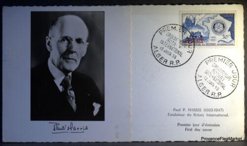 ALGÉRIE ROTARY PAUL HARRIS PHOTO VERITABLE  PREMIER JOUR 1955   213ACA37