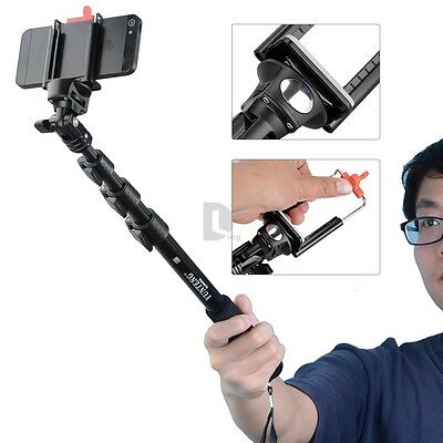 Aluminum Alloy 126CM Selfie Monopod Extendable Handheld Pole For iphone6 Samsung