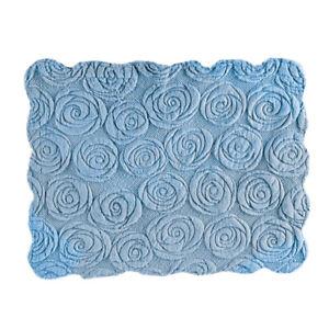 Elegant Faux Fur Rose Pillow Sham Plush Raised Floral